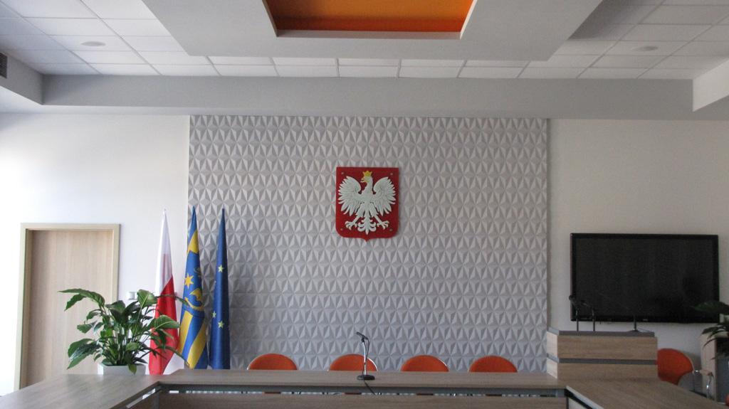 szklane godło polski na ścianę