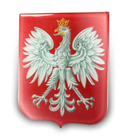 Godło polski na szkle