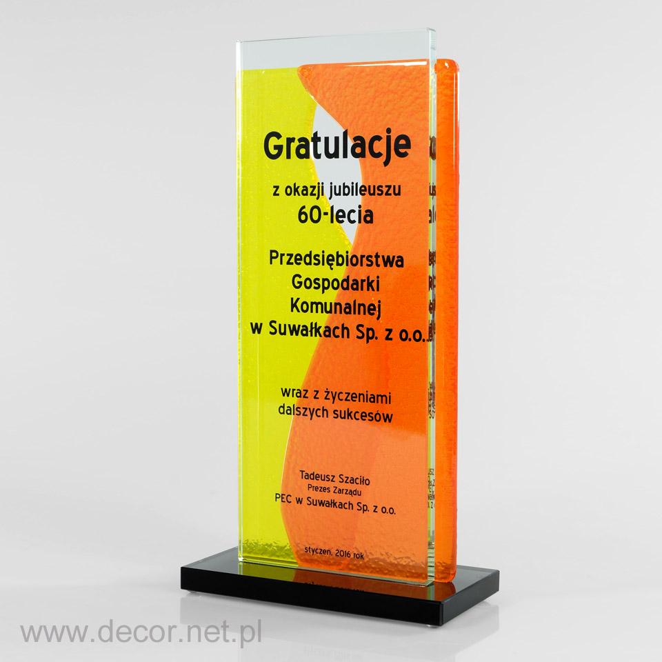 Statuetka jubileuszowa, prezent na 60 lecie firmy, rocznicę firmy