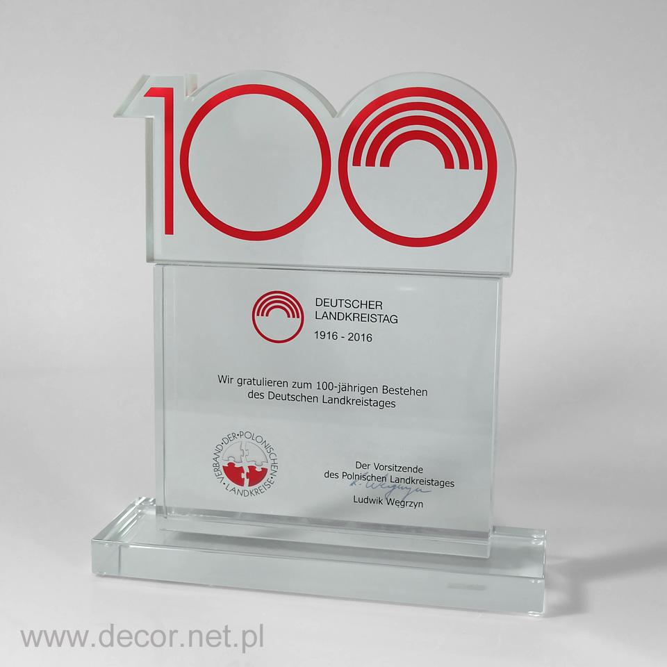 Statuetka jubileuszowa, prezent na 100 lecie firmy, rocznicę firmy