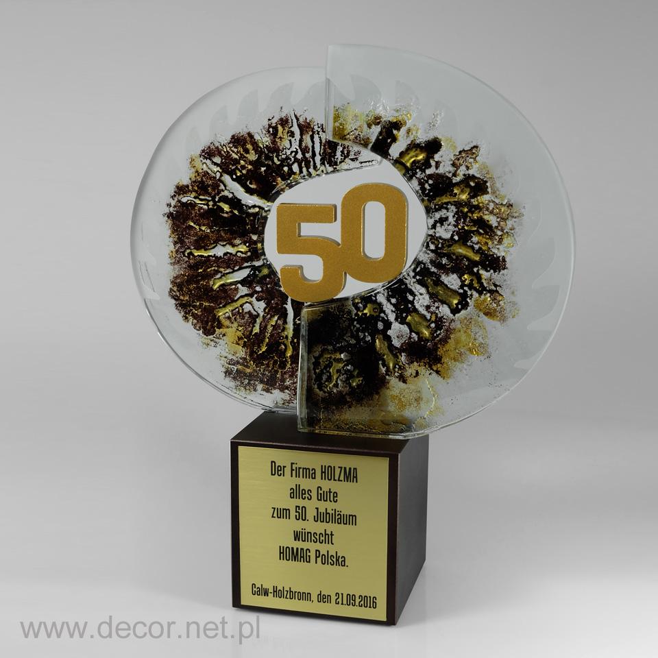 Ekskluzywna statuetka jubileuszowa na 50 lecie firmy