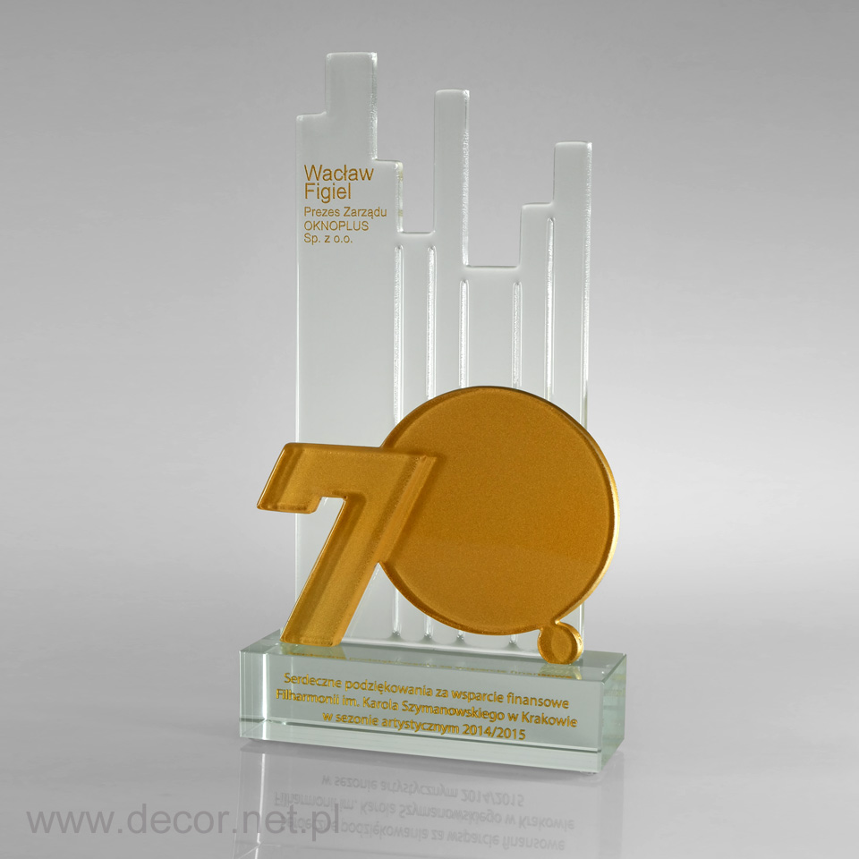 Statuetki jubileuszowe, prezent na 70 lecie firmy, rocznicę firmy
