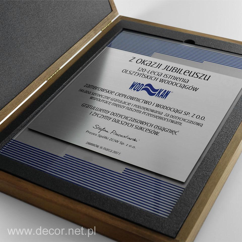 Dyplom jubileuszowy, prezent na 100 lecie firmy, rocznicę firmy