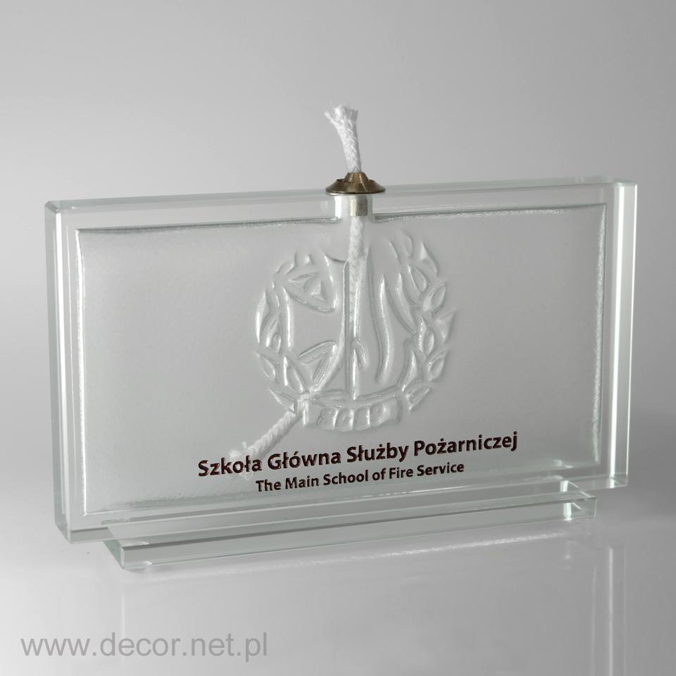 Lampka oliwna z logo firmy