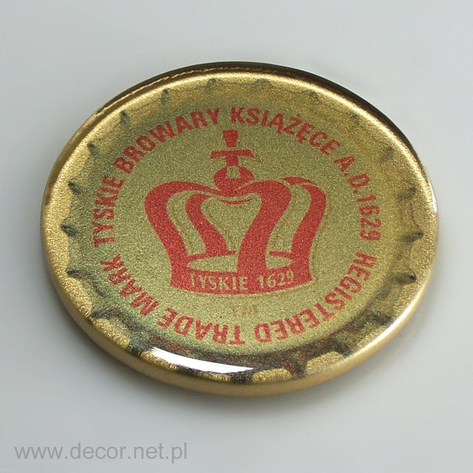 Szklany magnes z logo firmy