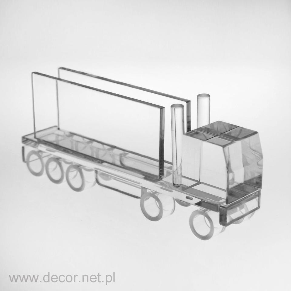 Szklany wizytownik miniatura tira