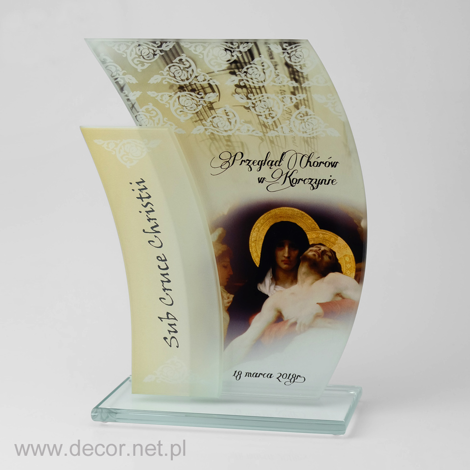 Statuetka szklana - Przegląd Chórów w Korczynie - Sub Cruce Christii