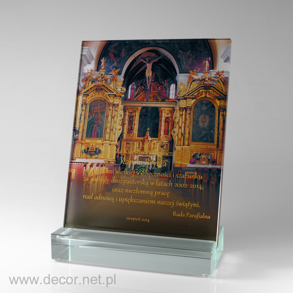Statuetka - Prezent dla Proboszcza - Pamiątka od Parafian