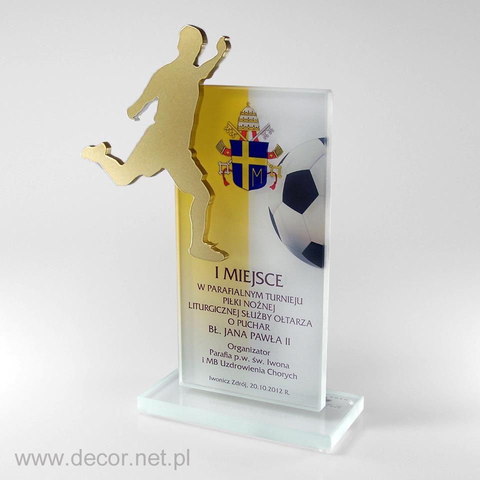 Statuetka na parafialny turniej piłki nożnej