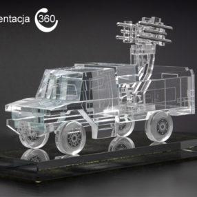 Szklana miniatura wozu bojowego – prezentacja 360