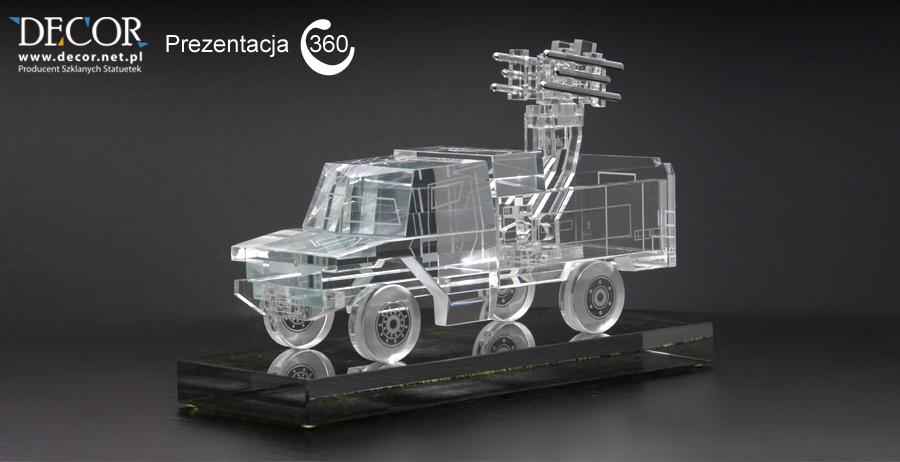 Szklana miniatura wozu bojowego - prezentacja 360