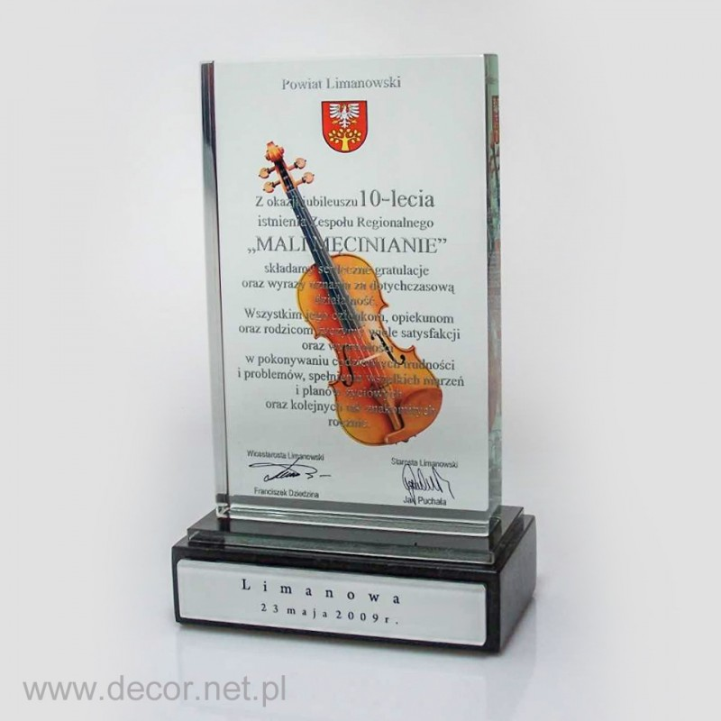 Pamiątkowa statuetka muzyczna
