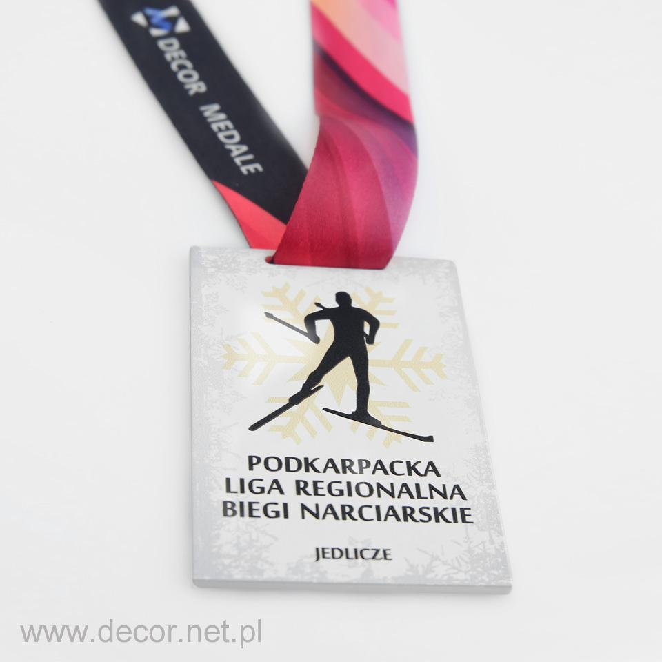 Tani medal metalowy na zawody narciarskie