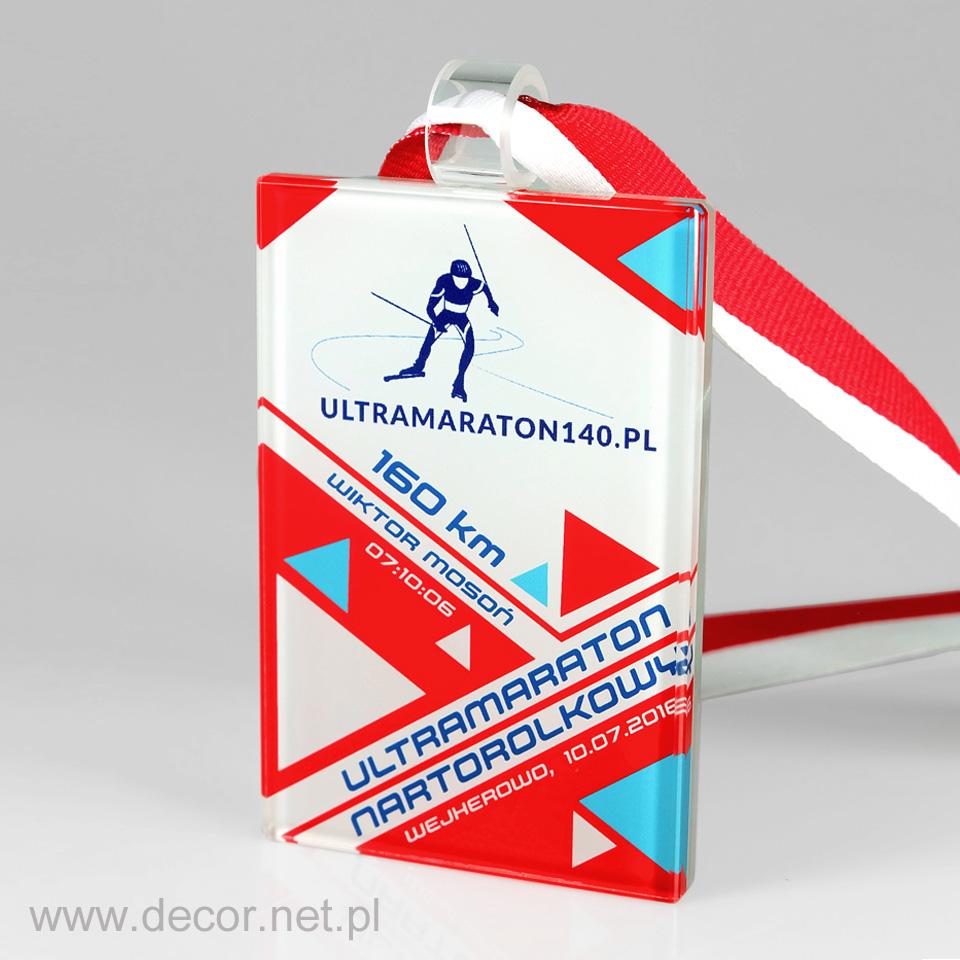 Szsklany medal na zawody narciarskie