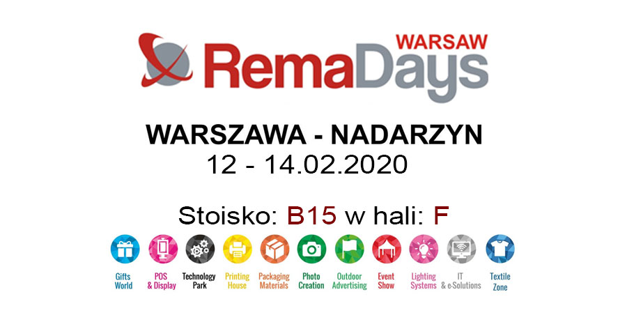Zapraszamy do odwiedzenia naszego stoiska na targach RemaDays