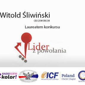 """Witold Śliwiński laureat w konkursie """"Lider z powołania"""""""