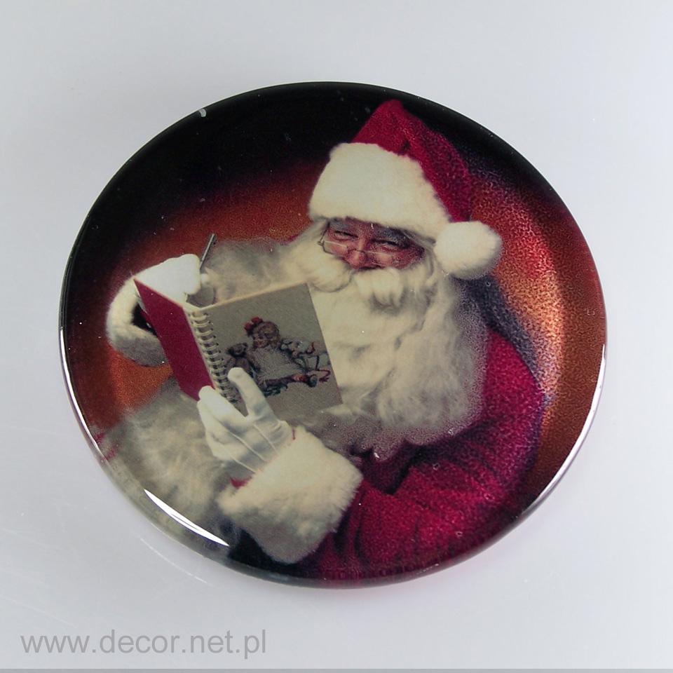 Szklany magnes świąteczny - producent