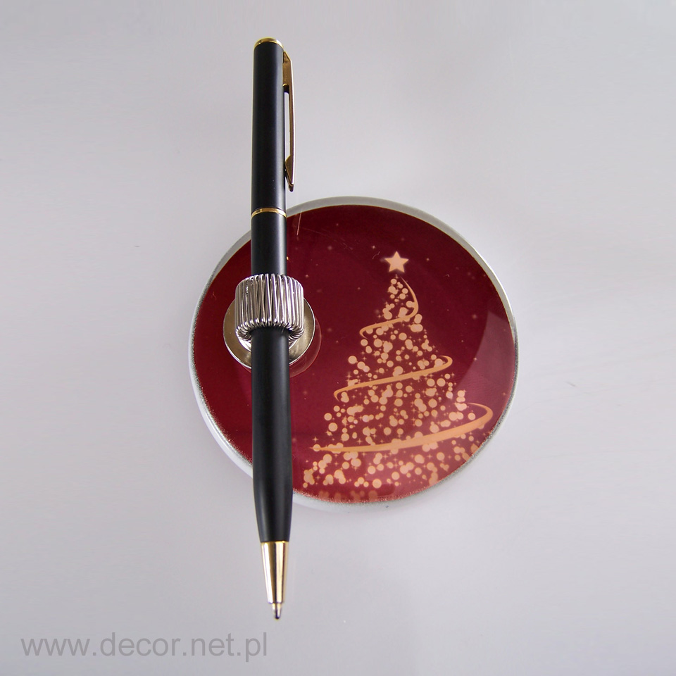 Szklany magnes ze świątecznym motywem